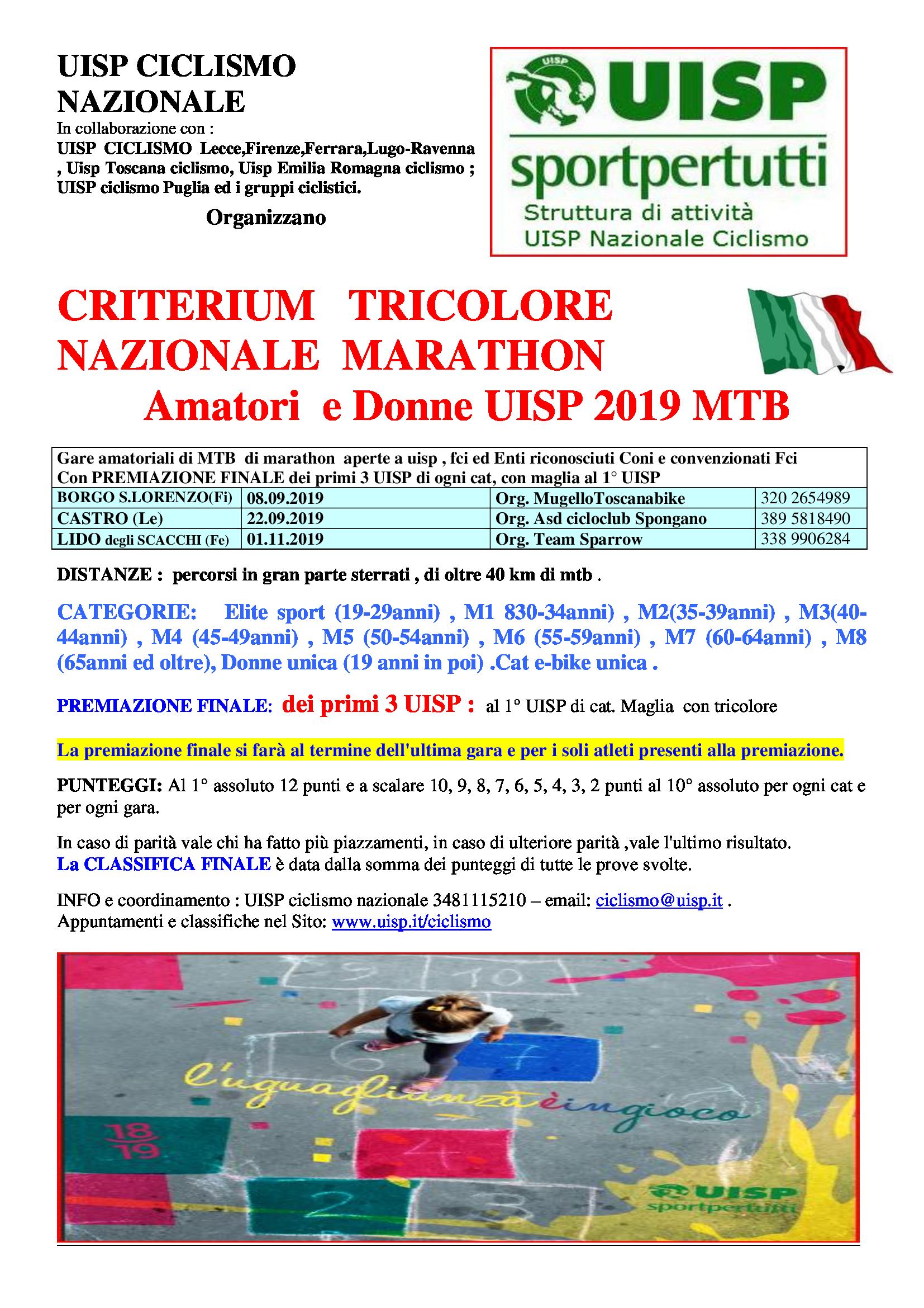Fci Calendario.Criterium Nazionale Mtb Marathon Uisp 2019 Calendario E